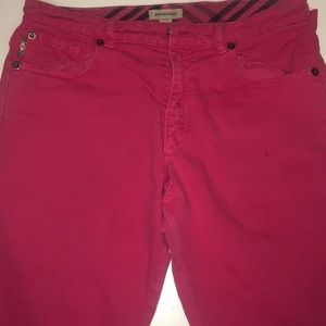Hot Pink Girls Burberry Jeans